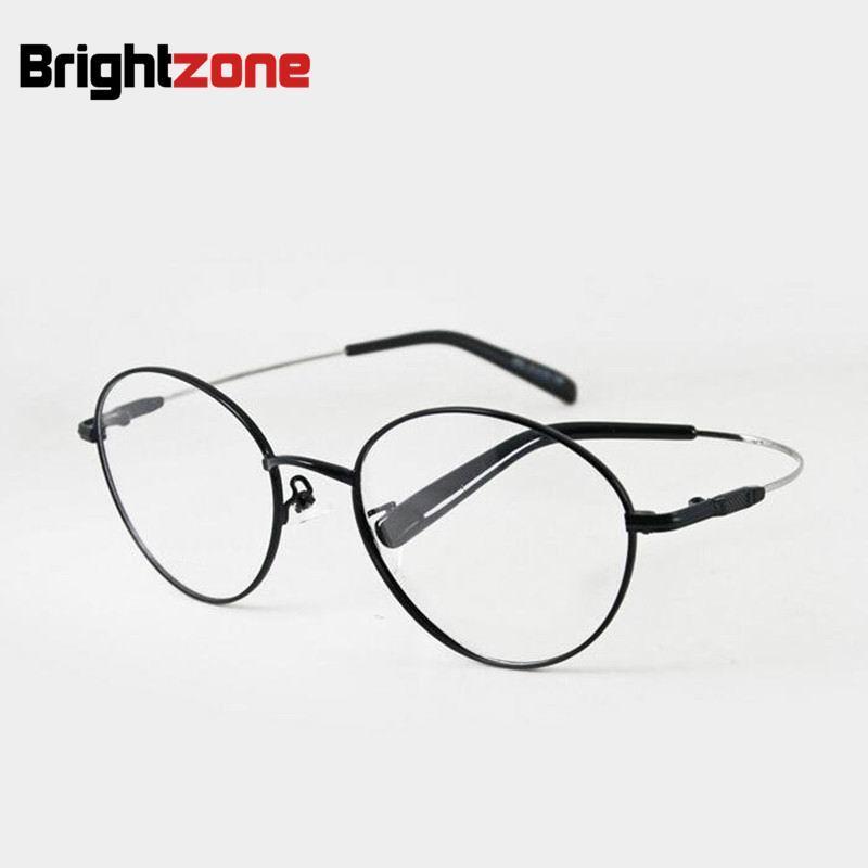 79941b08b9 Online Shop Classic Oval Shape Memory Titanium Metal Flexible Temple Men  Women Eyeglasses Frames Optical Frame Eyewear Rx Glasses Frames