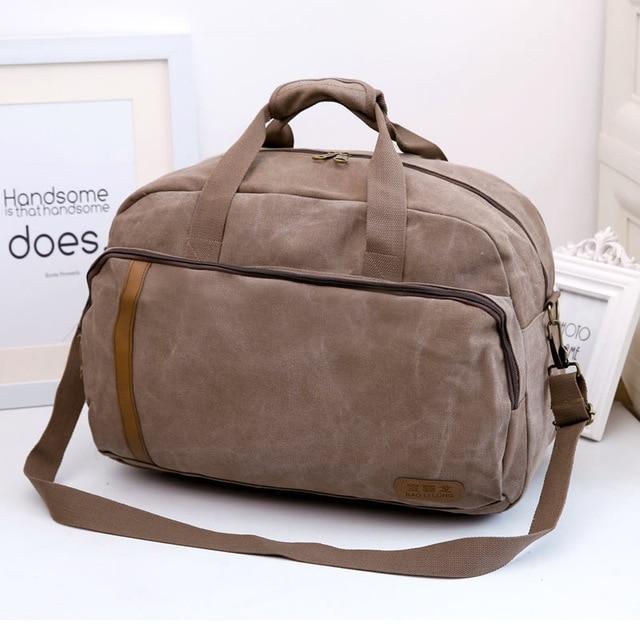 27L Famous Brand Men Vintage Canvas Male Travel Bags Women Weekend ...