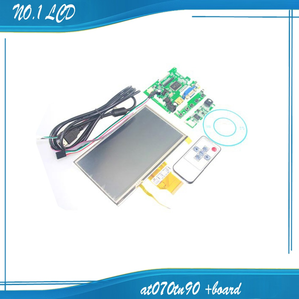 ФОТО HDMI/VGA+Control Driver Board+7inch AT070TN90 800x480 LCD Display+Touch Screen For Raspberry Pi