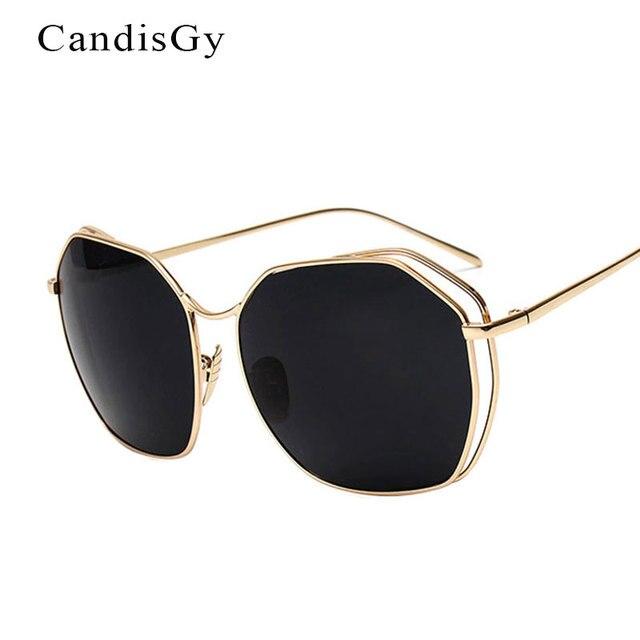Kebesaran Kacamata Hitam besar besar Korea Trend baru Wanita Pria Mode  Polygon Matahari Kacamata Fashion Shades b4c8a26c98
