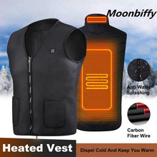 Men Women Outdoor USB Infrared Heating Vest Jacket Winter Flexible Electric Thermal Clothing Waistcoat Heated
