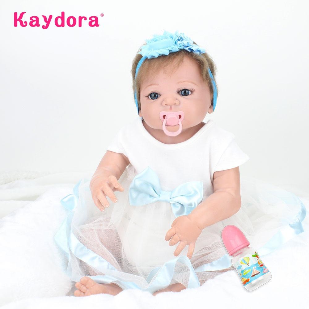 Kaydora 22 inch Realistic Reborn Baby Doll Full Body Vinyl Silicone Lifelike Bebe Reborn Babies Princess Girl Toys Bonecas Gift