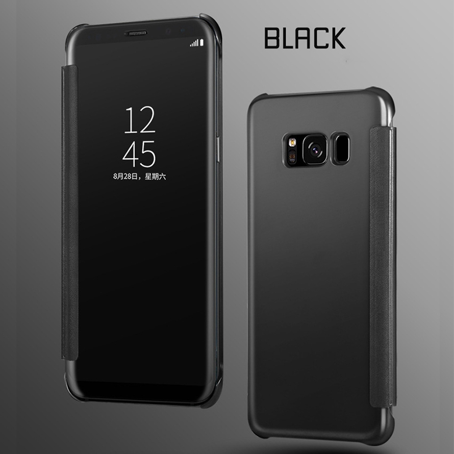 Case For Samsung Galaxy A5 A3 A7 A8 J5 J7 2016 2017 S8 Plus S7 S6 Edge Note 4 5 Smart Window Mirror Flip Case Conque in Flip Cases from Cellphones Telecommunications