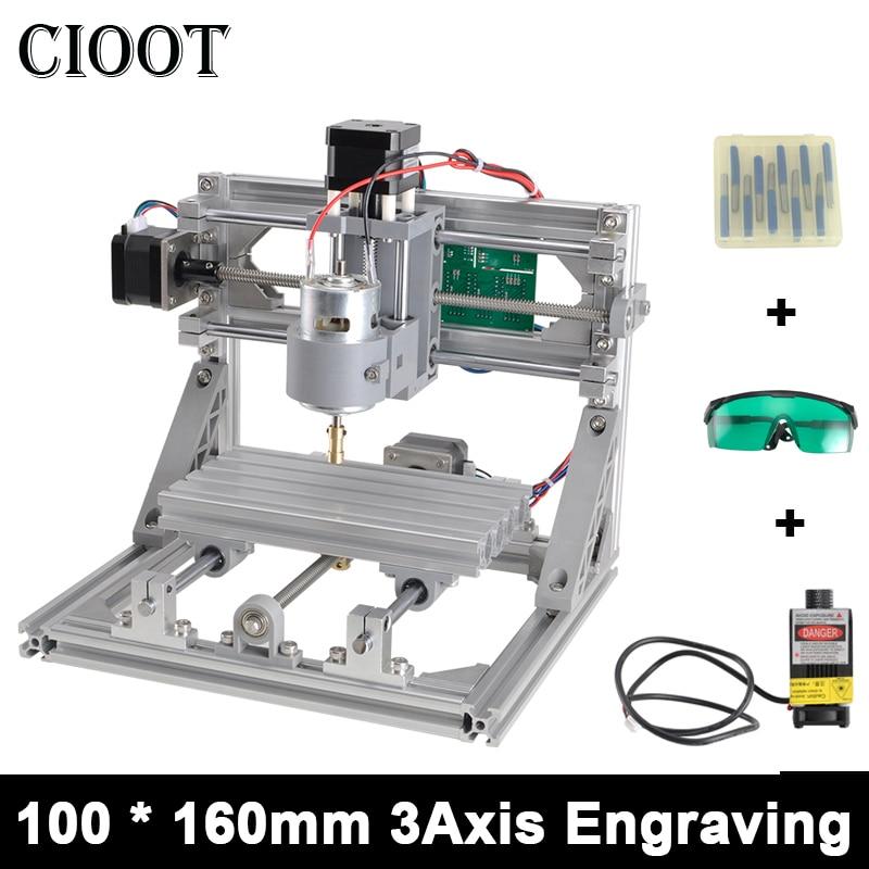CNC1610 with ER11 Diy Mini CNC Engraving Machine,Laser Engraving,Pcb PVC Milling Machine,Wood Router,CNC 1610,Best Advanced Toys