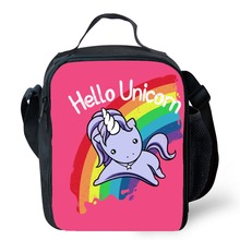 Hello Unicorn Lunch Bag Oxford Food Preservation Organizer Picnic Lunch Bags Fresh Fruit Insulation Pouch Cooler for Kids girls