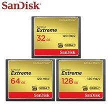Cartão instantâneo compacto de alta velocidade extremo do cartão 128 UDMA-7 hd completo do cartão 32gb 64gb VPG-20 gb cf da memória de sandisk vídeo para a câmera