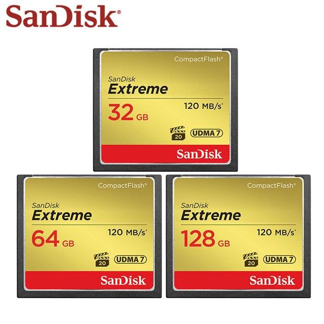 Thẻ Nhớ SanDisk 32GB 64GB 128GB CF Cực Cao Tốc Độ Thẻ Compact Flash UDMA 7 VPG 20 Full HD Video Cho Camera