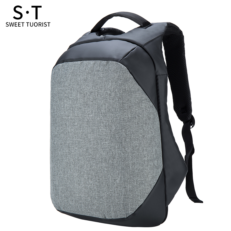 15.6 Inch Laptop Backpack USB Bag Waterproof Travel Pack 3 Colors Fashion Packs 1948 Male Cool Anti-Theft School Bags