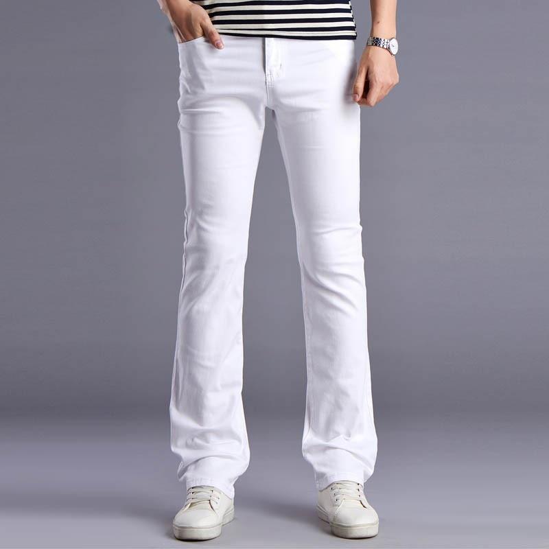 kişilərin bahar yay alovlandırılmış jeans yüksək keyfiyyətli - Kişi geyimi - Fotoqrafiya 2