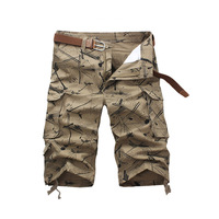 Fashion Summer Cargo Shorts Pants For Men Hot Sale Multi Pockets Cotton Comfortable Male Camouflage Trouser