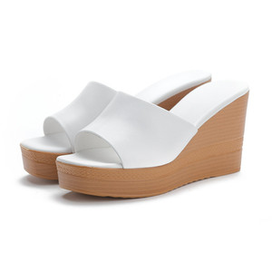 Image 2 - Morazora 2020 最高品質の本革サンダルの女性のファッションウェッジプラットフォームサンダルサマーパーティーウエディング靴女性のスリッパ
