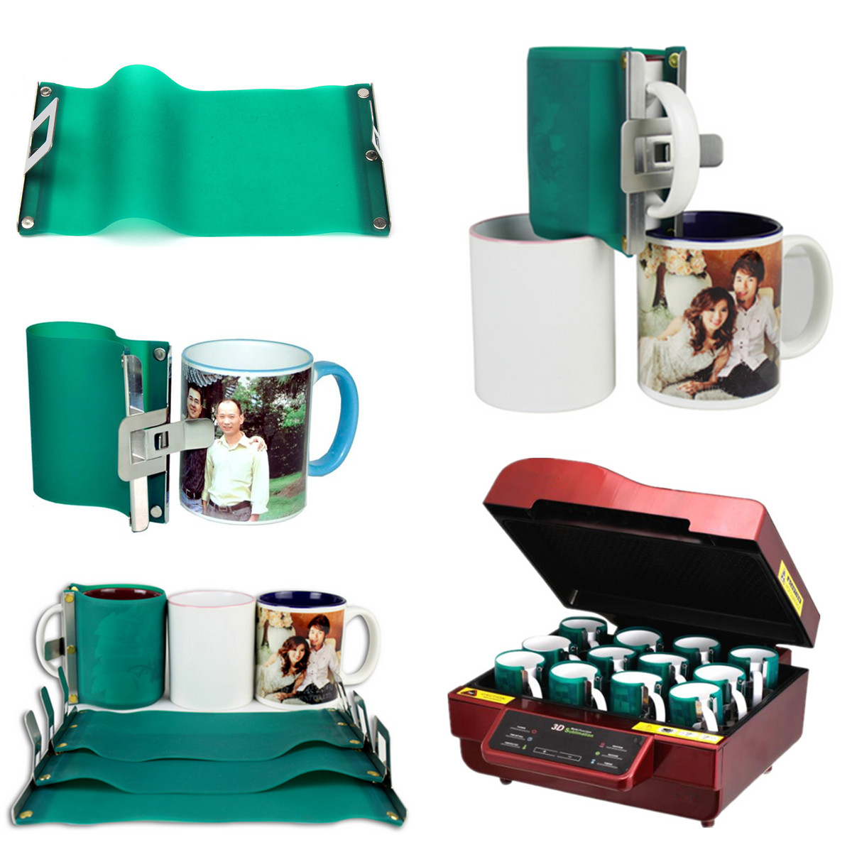 3D Sublimation Silicone Mug Wrap Rubber Cup Clamp Fixture for Printing Mug 300ml