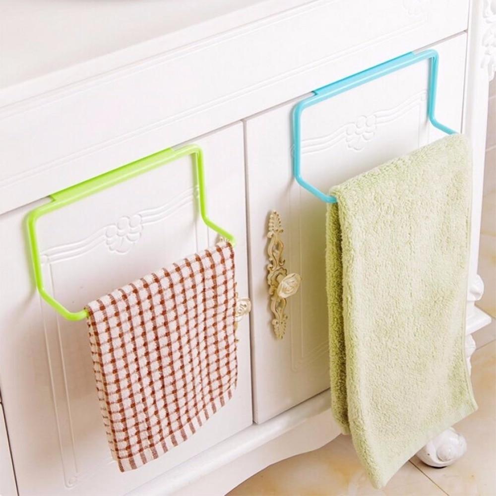 1 pieza de armario de cocina para baño gancho sobre gancho toallero Barra para colgar soporte cajón herramientas de almacenamiento de cocina #226217