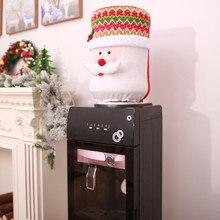 Рождественские крышки Диспенсера для воды, пылезащитная крышка, ведро для воды, диспенсер, контейнер, очиститель бутылок, Рождественский Декор, пылезащитная крышка s navidad