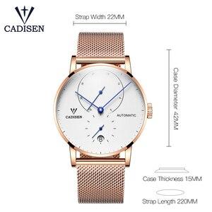 Image 4 - Cadison montre automatique en acier, horloge automatique, réserve électrique, bracelet décontracté Mesh, tendance