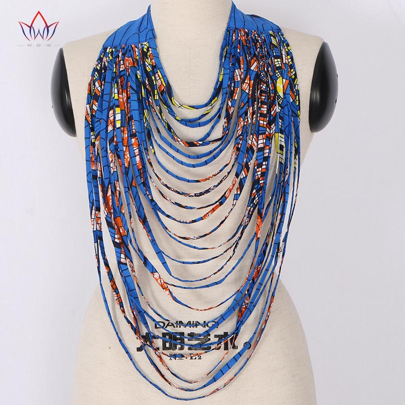 цена на 2018 African Print Multistrand Necklace Africa Wax Necklaces African Multi-layered Rope Necklace Ankara Jewelry WYA022