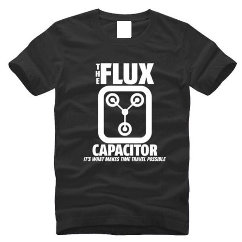 Summer Print T Shirt MenS Crew Neck Back To The Future Flux Capacitor Short Sleeve Top T Shirt