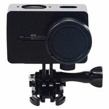 Для Xiaomi Xiaoyi Yi II Спорт Действий Камеры Корпус Из Алюминиевого Сплава Защитный Чехол с Объективом Защитный Колпачок