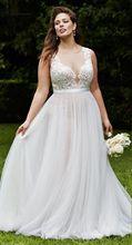 New Arrival Modest Plus Size 2017 Wedding Dresses Scoop vestido de noiva O-neck Court Train Lace Wedding Gowns Custom Made