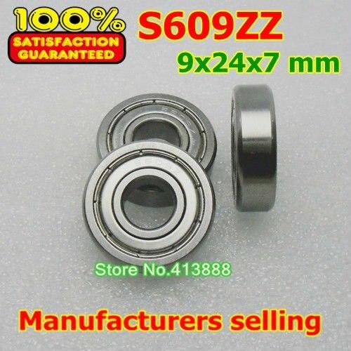 10 шт./лот высокого качества ABEC-1 Z2V1 SUS440C из нержавеющей стали Глубокие шаровые подшипники S609ZZ 9*24*7 мм