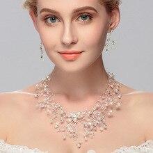 สร้อยคอและชุดต่างหู งานแต่งงานชุดเครื่องประดับ Parting Sprkling