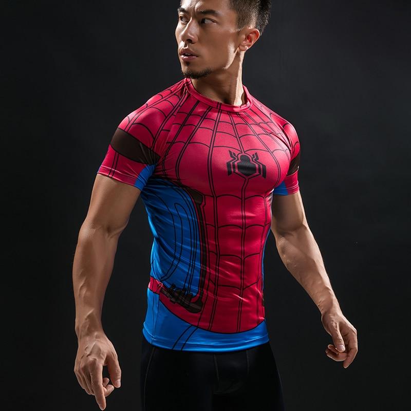 520dc6c3 Spider Man 3D Printed T Shirt Captain America Civil War Tee Men Avengers  Short Raglan sleeve Fitness Cosplay Slim Fit Tops Male