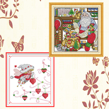 Joy Sunday,Christmas style,cross stitch embroidery set,printing cloth embroidery kit,needlework,DIY Christmas cross stitch joy sunday christmas dogs cross stitch embroidery set printing cloth embroidery kit needlework animal picture cross stitch