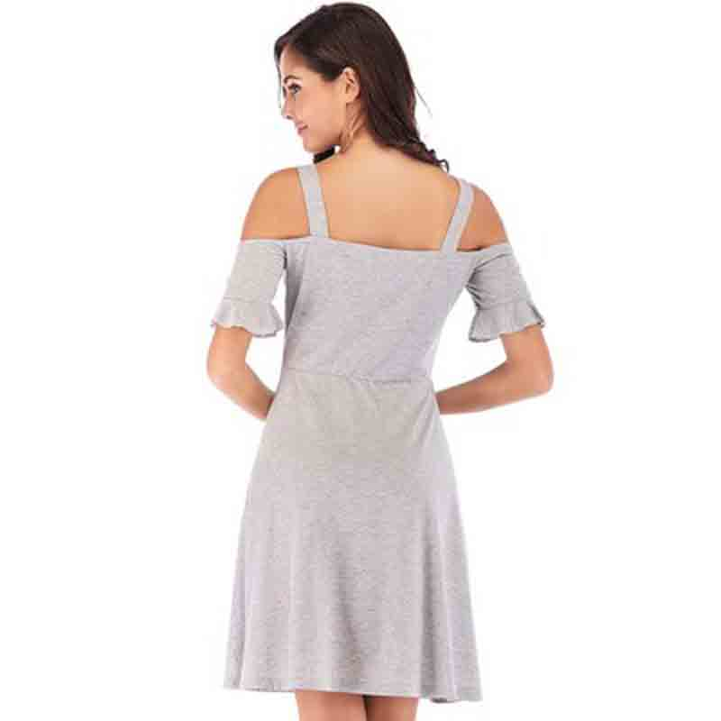 Clothes 2019 European and American Women 39 s Summer New Embroidered Round Collar Short Sleeve Dress dress sexy top in Dresses from Women 39 s Clothing