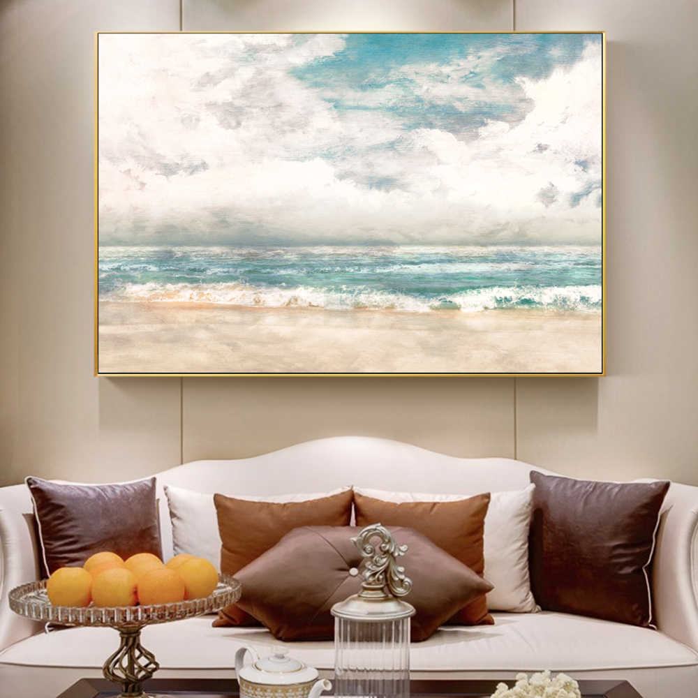 Wall Art Canvas Painting Abstract Seascape Scenery Posters and Prints Canvas Art Prints Wall Pictures For Living Room Cuadros
