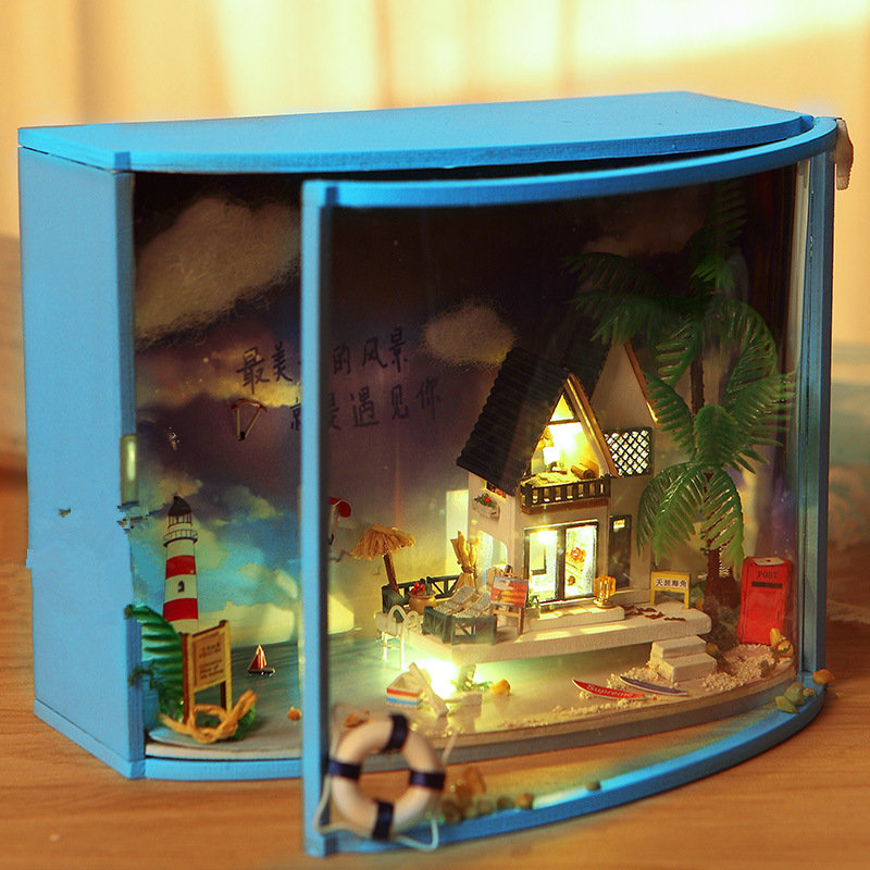 T-Yu TY1 Ultima Thule DIY Dollhouse With Light Miniature Model Gift Collection Decor Toy