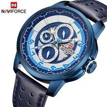 NAVIFORCE אופנה ספורט שעונים Mens למעלה יוקרה מותג גברים של קוורץ תאריך שעון זכר עמיד למים שעון יד Relogio Masculino
