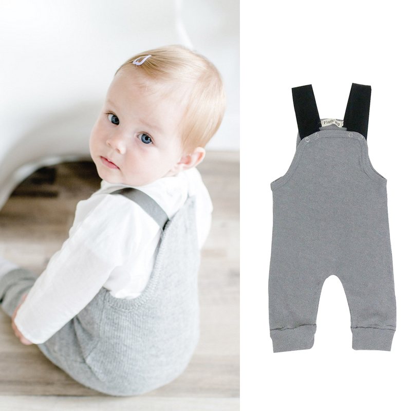 2017 Newborn Baby Boy Girl Romper Grey Tiny Cottons Sleeveless Baby Toddler Romper Jumpsuit Sunsuits Outfit Baby Onesie 0-24M newborn infant baby girl clothes strap lace floral romper jumpsuit outfit summer cotton backless one pieces outfit baby onesie