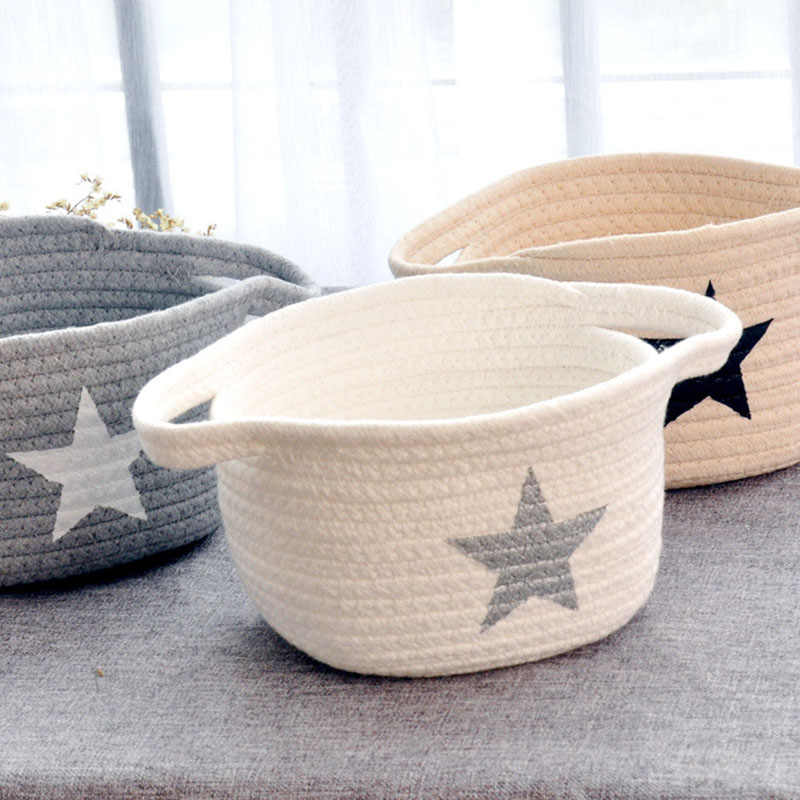 Nordic Linen Storage Baskets Foldable Organizer Baby Kids Child Clothes Toys Candy Gadgets Holder bag Case Belly Basket