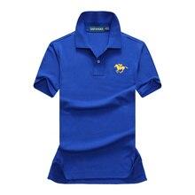 High quality  Summer New mens short sleeve polos shirts casual womens lapel cotton fashion slim tops