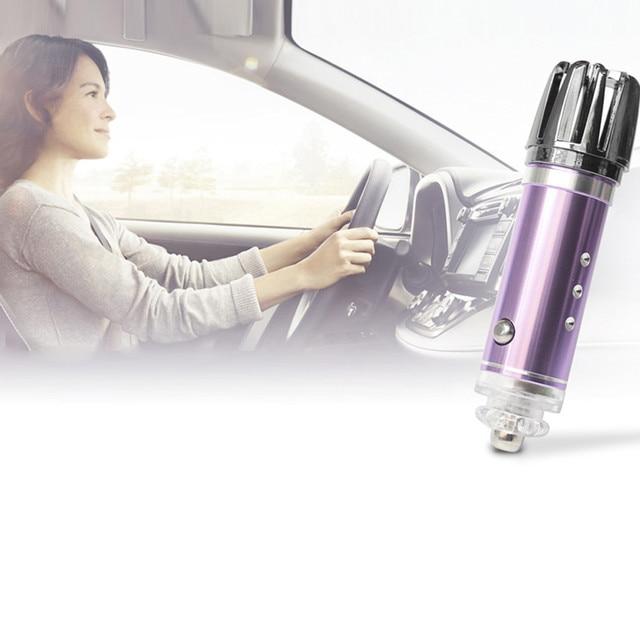 Ambientador de coche y purificador de aire iónico, elimina el humo del polen y los malos olores, generador de humo para coches, ionizador de aire para coche