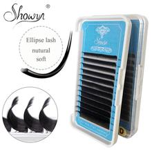 Volume Eyelash Extension Faux Mink Individual Ellipes Flat Lashes Split Tips Shaped Natural Light False Extensions
