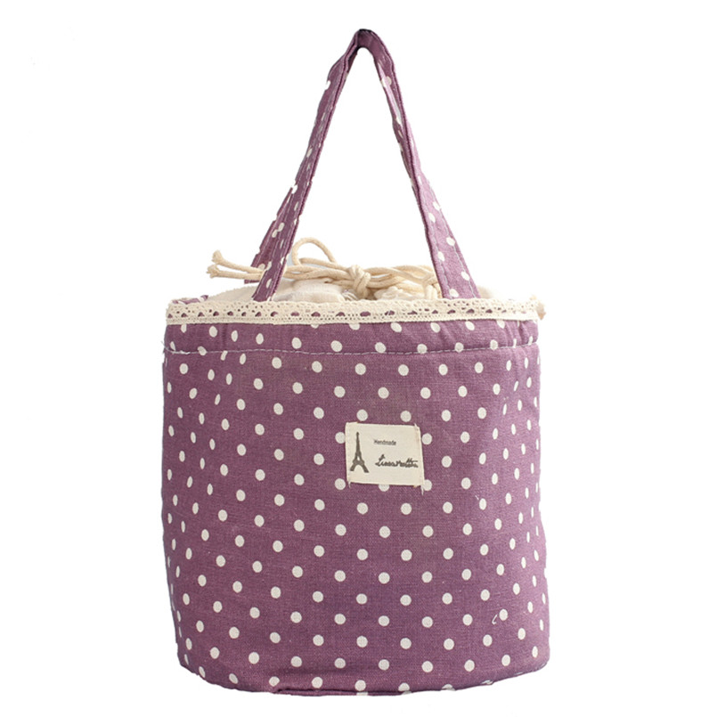 Thermal Insulated Lunch Box Tote Cooler Bag Bento Pouch