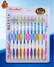 10 шт/компл домашняя семейная зубная щетка с мягкой щетиной