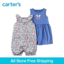 3pcs clothing sets butterfly Dress&floral Romper with a diaper cover Carter's baby girl cotton Spring Summer 121I171