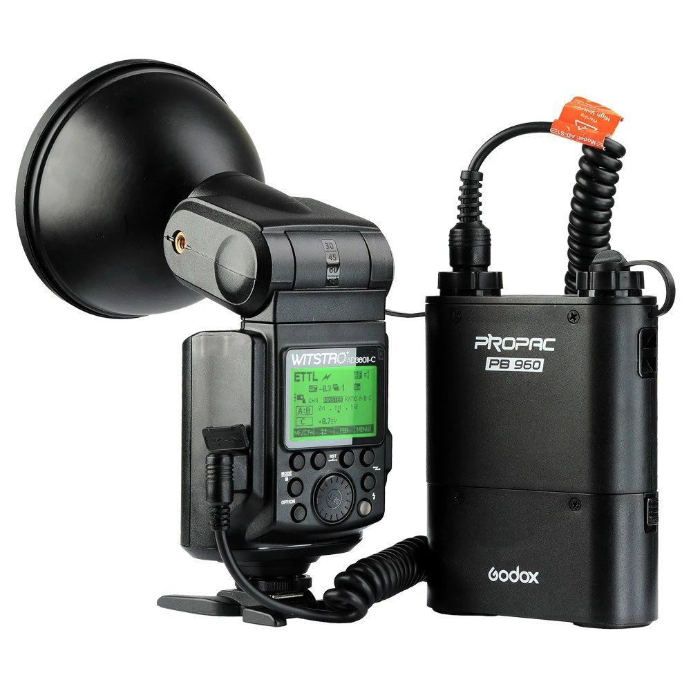 New Godox WITSTRO AD360II TTL 360W/S Wireless Power Control Outdoor Flash Light+PB960 Power Battery Pack Kit Black for Canon godox ad360 camera outdoor shooting flash kit ad 360 360w flash ft 16 wireless trigger ad s17 diffuser 60 60cm softbox