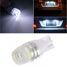 1PC 2SMD W5W T10 1W License Plate Light Lamp Bulb Car Small Light Door Light 12V 6500K(China)
