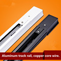 0.5 Meter Aluminum Track  Rail Accessories For All Track Light Install Integration Fixture Shopping Mall Lighting 2 Wires Rails