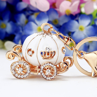 1PC Cinderella Pumpkin Carriage Keychain Birthday Boy Baby Shower Favors Baptism Party Souvenirs Gifts Baby Shower