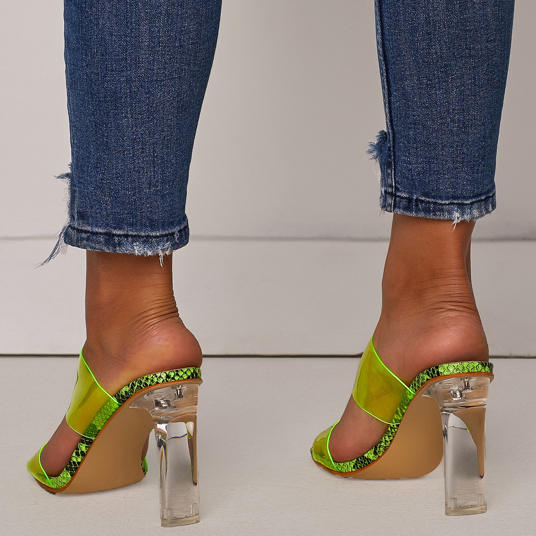 HTB1ilN3U9zqK1RjSZPcq6zTepXaS 2019 Snakelike Sandals Crystal Open Toed High Heels Women Transparent Heel Sandals Slippers Pumps 11CM Big Size 41 42