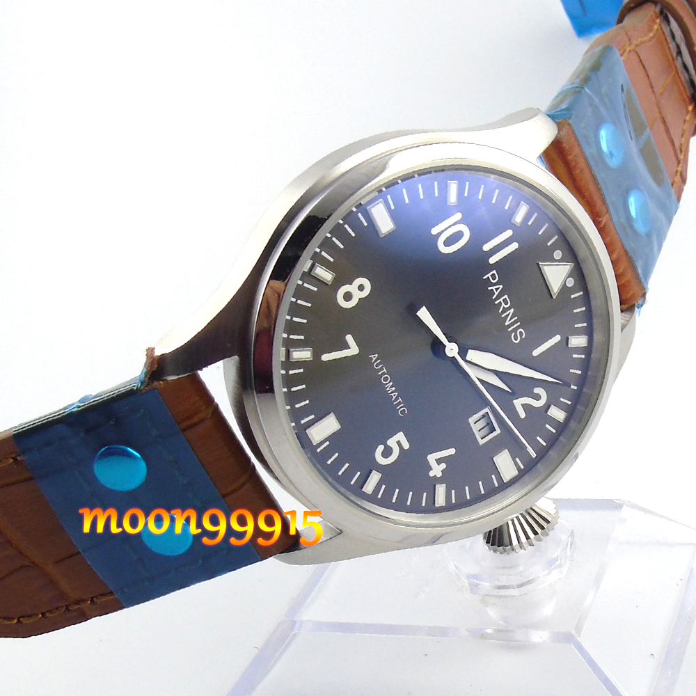 47mm parnis gray dial date automatic movement mens watch luxurious 47mm parnis coffee dial date seagull automatic movement mens watch page 6