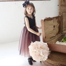 2016 Kids Girls Tulle Dancing Tutu Dress Sequins Fancy Vest Puffy Dresses S2