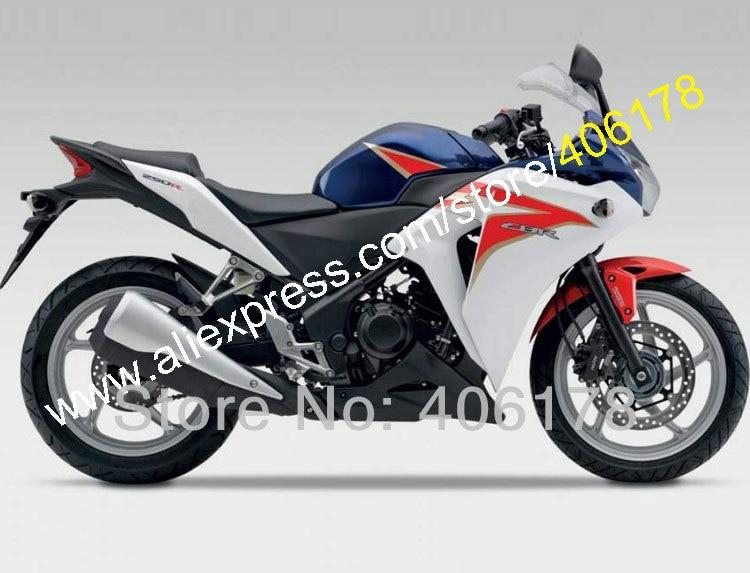 Vendite calde, Per Honda CBR250RR CBR250R 2011 2012 2013 2014 CBR250 MC41 11-14 Multicolore ABS Carenatura del corpo kit (stampaggio ad iniezione)