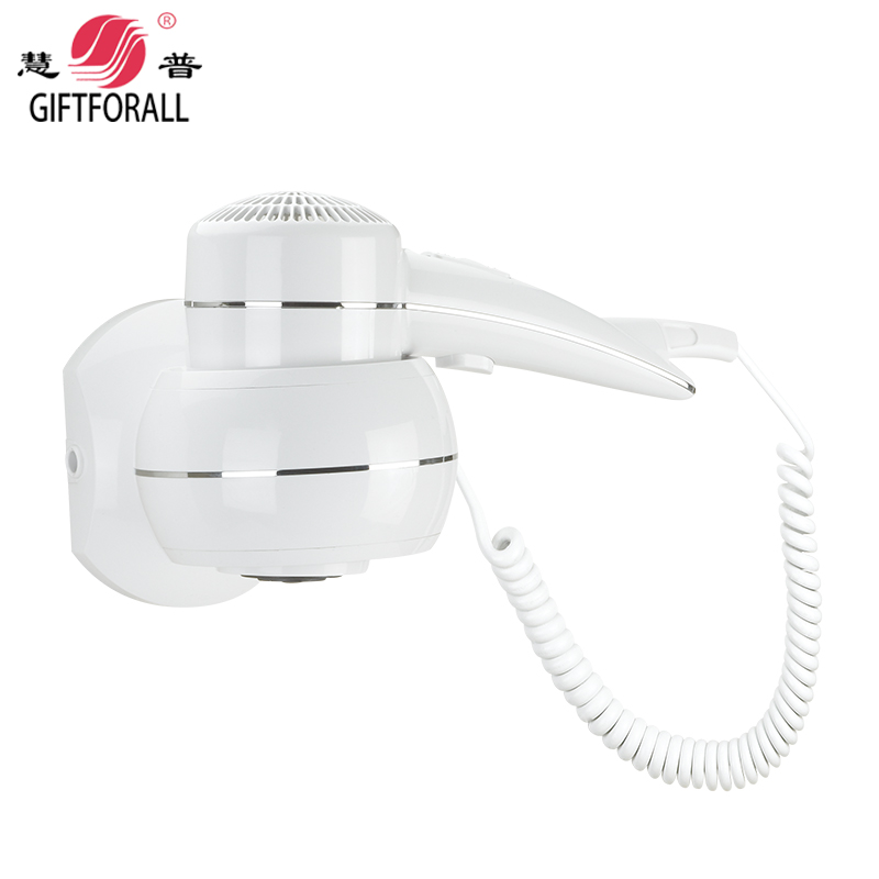 GIFTFORALL Luxury Hair Dryer Bathroom Security Wall Mounted Professional Hair Dryer Electric Hair Blower Hair Dryer D150 giftforall hair dryer hotel bathroom home professional hair salon powerful wall mounted portable mini hairdryer d139 d
