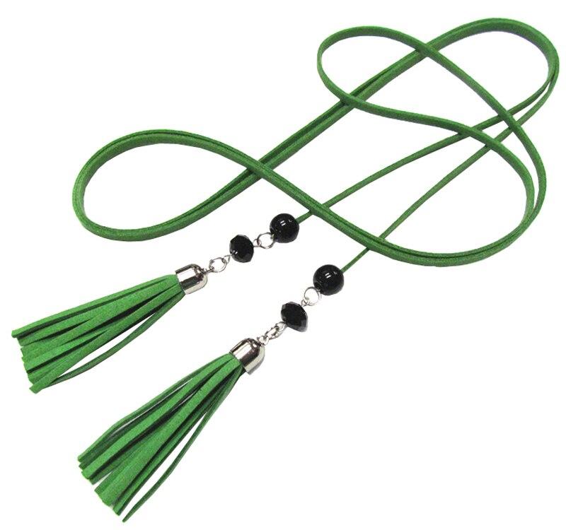 24PCS/LOT SINGYOU Vintage Long Thin Belt for Women Casual Tassel Design Female Belt for Desses Accessories Ceinture
