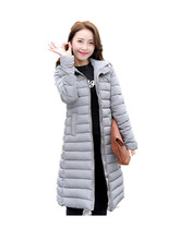 Winter jacket women down coat women young girl outerwear with a hood zipper long-sleeve wadded jacket women outerwear